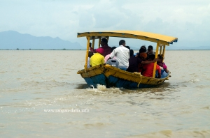 A boat at Chilika Lake, Odisha