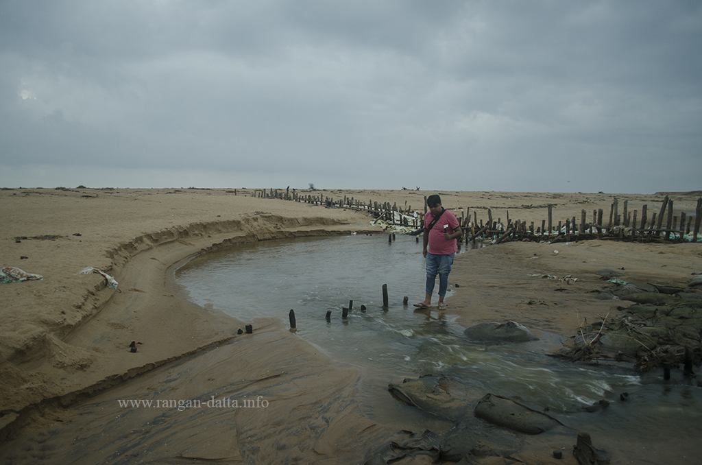 Deepyan crosses the backwater to reach the Sterling Resort Puri Beach