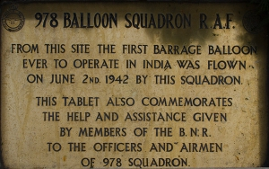 Plaque of Barrage Balloons