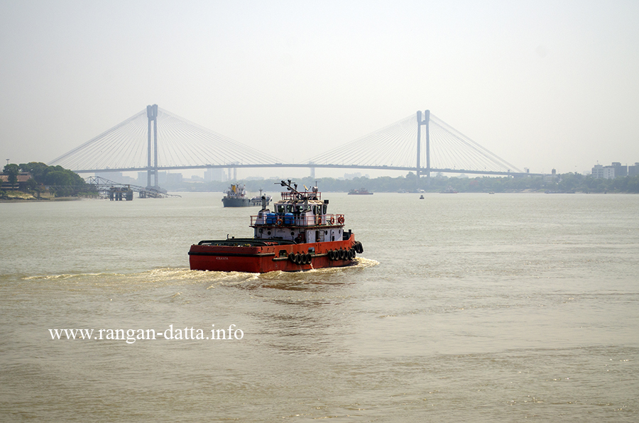 View of Hooghly River and Second Hooghly Bridge from BNR Complex, Garden Reach