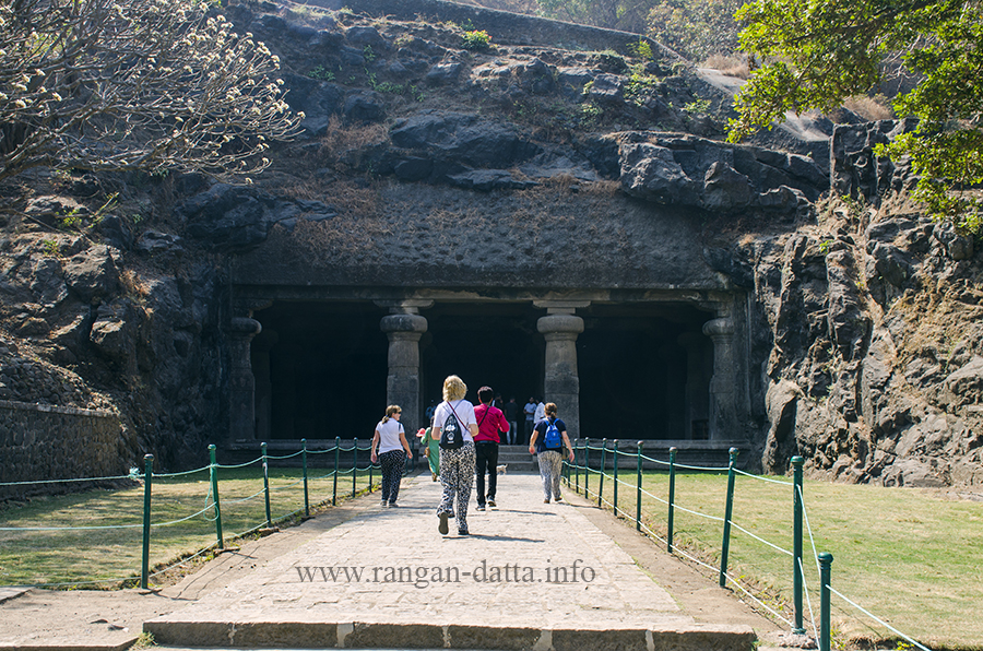 Entrance of Elephanta Cave