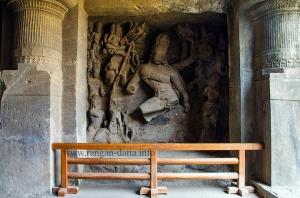 Nataraja Shiva, Elephanta Caves