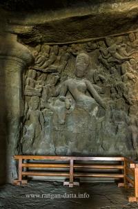 Ardhanarishvara, Elephanta Caves