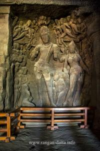 Gangadhara Shiva, Elephanta Caves