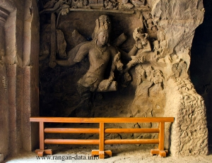 Shiva slaying Andhakasura, Elephanta Caves