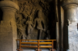 Shiva - Parvati marriage, Elephanta Caves