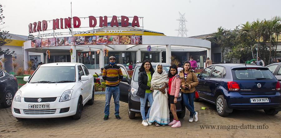 On the way to Bhalki Machan, breakfast stop at Azad Hind Dhaba