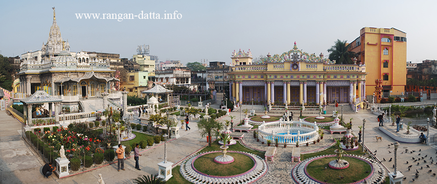 Panoramic view of the Shwetambar Jain Temple Complex, Gouribari