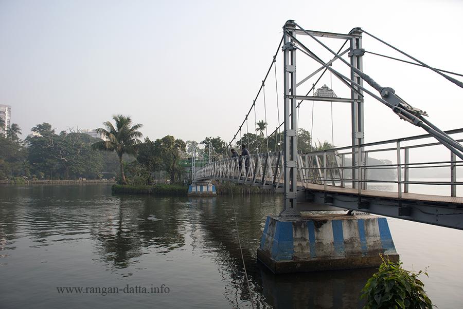 Hanging bridge, Rabindra Sarobar