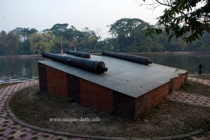 Cannons of Rabindra Sarobar