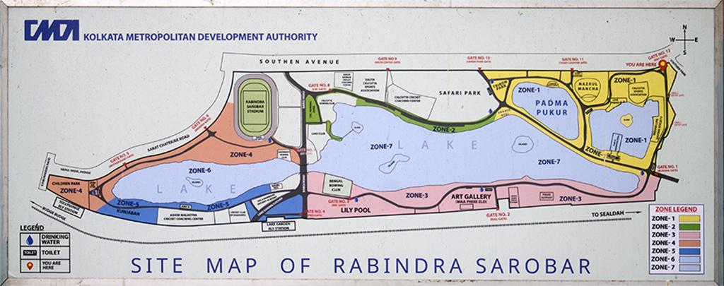 Map of Rabindra Sarobar