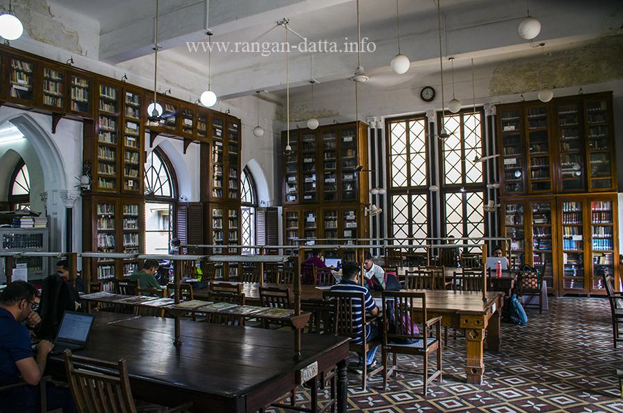 Interior of David Sassoon Library, Mumbai