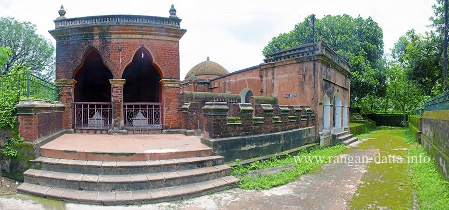 Panoramic view of the Mazar of Pir Baharam, Brdhaman