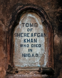 Plaque of Sher Afghan at Mazar Gate